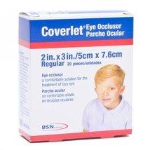 "46430 PT# 46430- Dressing Coverlet Eye Occlusor LF St Fbrc 2x3"" Reg Tan 20/Bx by - $8.99"