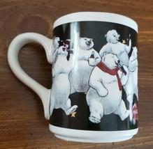 1996 Coca Cola Gibson Mug Coffee Cup Polar Bear Holiday Vintage Collecto... - $14.85