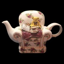 Royal Albert Teapot by Paul Cardew 'Old Country Roses' Bear Sitting in C... - $134.63