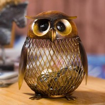 Metal Owl Piggy Bank Trinket Holder   - $11.99