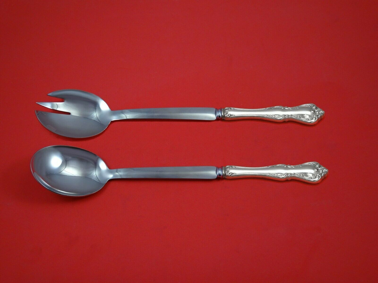 "Primary image for Debussy by Towle Sterling Silver Salad Serving Set Modern 10 1/2"" Custom"