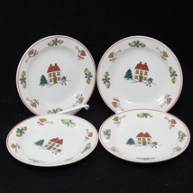 "Joy of Christmas limited firing 6-1/2"" Plates Set of 4 - $32.33"