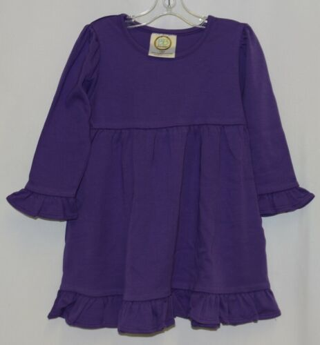 Blanks Boutique Purple Long Sleeve Empire Waist Ruffle Dress Size 18M