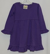 Blanks Boutique Purple Long Sleeve Empire Waist Ruffle Dress Size 18M image 1