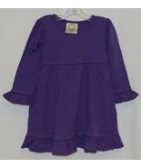 Blanks Boutique Purple Long Sleeve Empire Waist Ruffle Dress Size 18M - $14.99