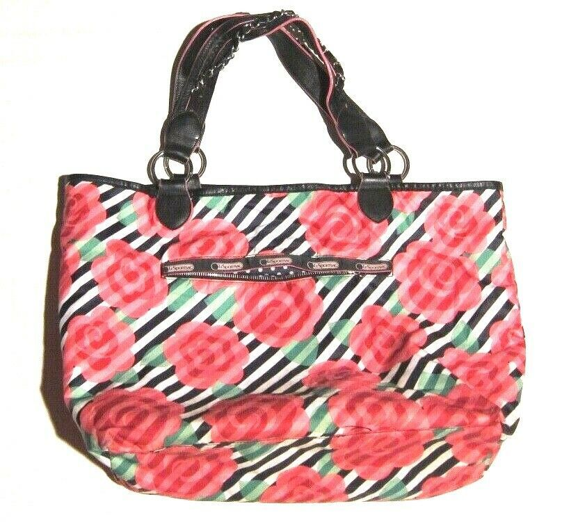 Primary image for LeSportsac x The OC Limited Edition Rose Floral Stripe Tote Shopper Bag