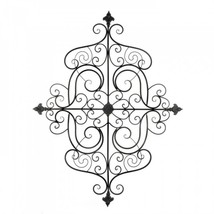 Fleur-de-lis Scrollwork Wall Plaque - $76.80