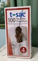 New T-Sac Tea Filter Bags, Disposable Tea Infuser, Number 4 Size - $10.37