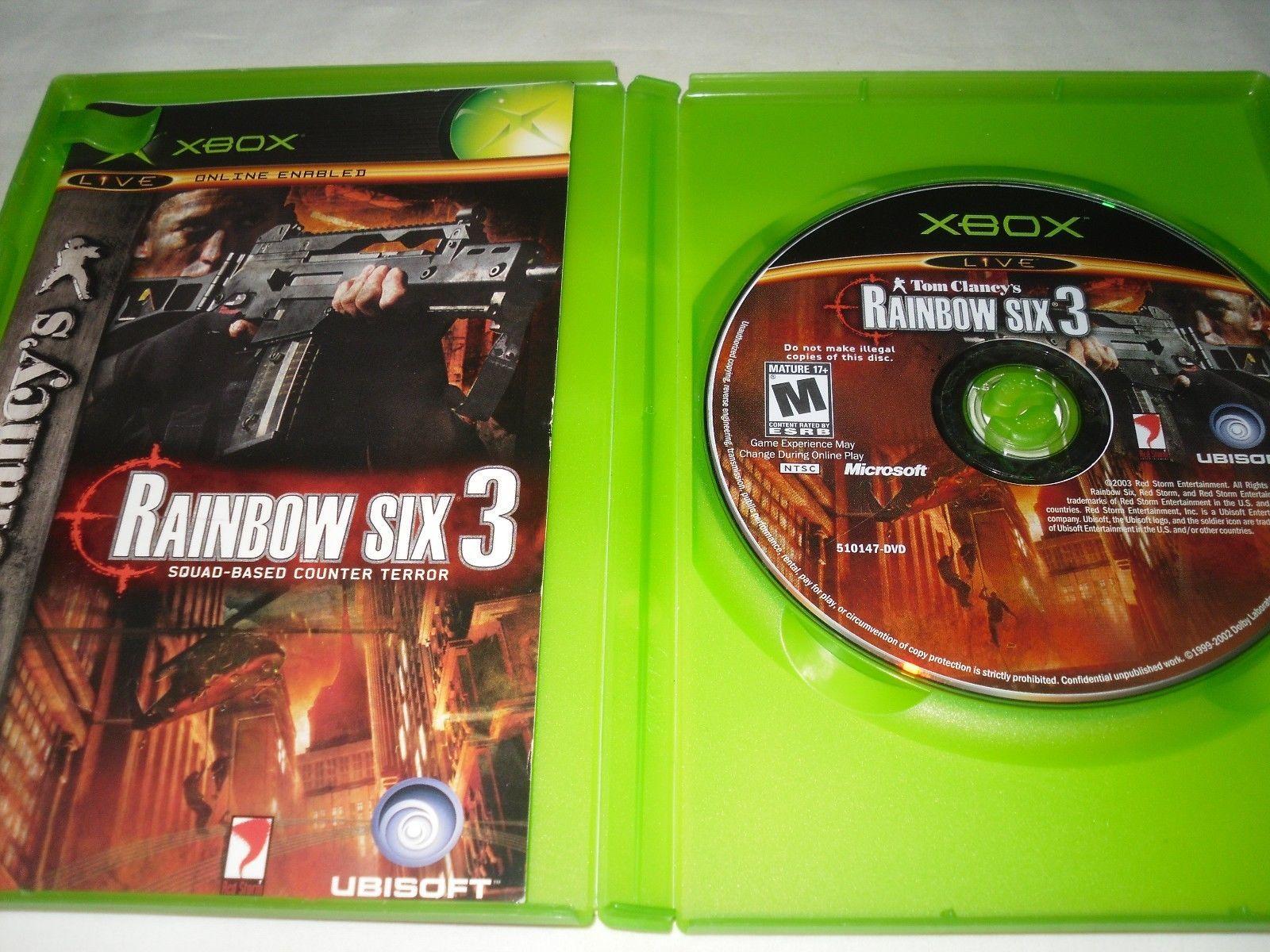 Tom Clancy's Rainbow Six 3 (Xbox, 2003) Complete Game