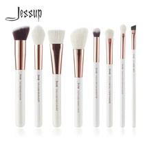 Jessup Pearl White/ Rose Gold Professional Makeup Brushes Set Make up Br... - $23.99