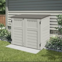 Outdoor Storage Shed Bike Utility Tool Cabinet Gardening Plastic Backyar... - $346.29