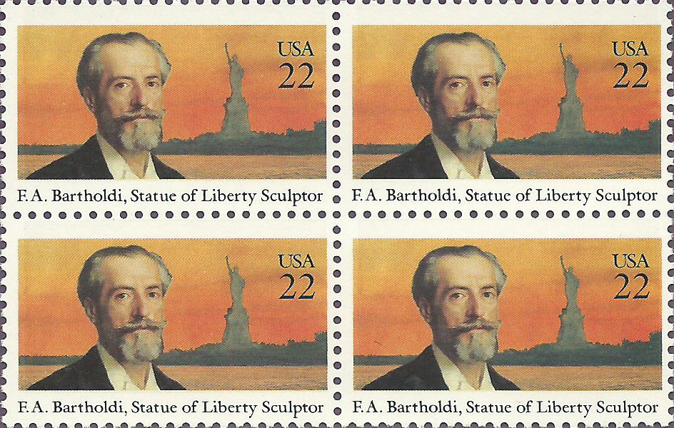 Official Frederic Auguste Bartholdi USPS Commemorative Panel (CP245)