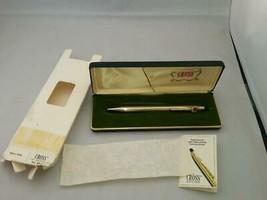 Cross10kt Gold Filled Ballpoint Pen Blue #4502 Litton Industries Logo Re... - $99.00