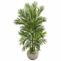 Luxury Multicolor 5' Areca Palm Artificial Tree in Bowl Planter - 5 Ft. - $285.46