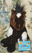 Ganz Webkinz Pinto Horse With Sealed Code Brown & White NEW Plush Toy - $12.16