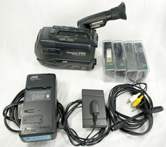 JVC GR-AX2 Compact VHS Video Movie Camera Camcorder w/ Original Charger + VHS-C - $74.98