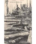 Log Dump Logging Bellingham Washington 1910c postcard - $7.43