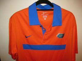 Nike Florida Gators Size L Polo Orange Blue Gators! Dri Fit Men's Brand New - $49.95