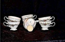Bavarian German China Set of Johann Haviland Tea Cups AB 55-A  Vintage image 3