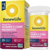 Renew Life Womens Probiotic Supplement Probiotics 25 12 Strains Gluten 3... - $22.56