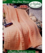 Peach Perfection One Piece Afghan Crochet PATTERN/INSTRUCTIONS/NEW HTF - $2.67