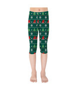 Ugly Christmas Trees Sweater Pattern Girls Capri Leggings - $35.99+
