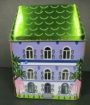 Partylite Spring Village House Candle Holder Tin Pastel - $16.82