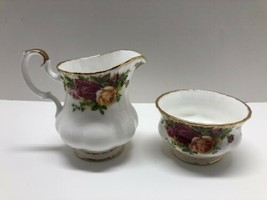 Royal Albert Fine Bone China Old Country Roses Open Sugar Bowl And Creamer - $44.50