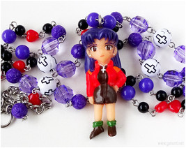 Misato Katsuragi Rosary Necklace, Neon Genesis Evangelion, Anime Jewelry... - $40.00