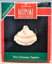 Hallmark - First Christmas Together 1990 Two Doves - Classic Miniature Ornament - $6.94