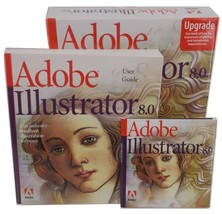 Adobe Illustrator 8.0 Upgrade Macintosh Complete 2 Discs User Guide Quic... - $49.99