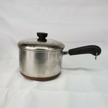 Vintage 1801 Revere Ware Copper Bottom Stainless Steel 3-Qt Saucepan & Lid - $43.53