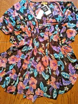 Miken Swim Tropical Yore Beach Cover Up Size Small image 1