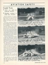 1953 Aviation Article NACA Crash Test with Fairchild C-82 Cargo Plane Ph... - $9.99