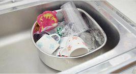 Characin Stainless Steel Dishpan Basin Dish Washing Bowl Portable Tub (D Shape) image 3