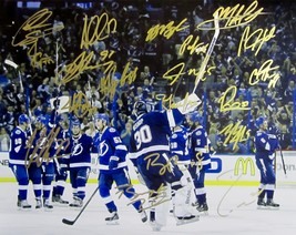 2015 T.B. Lightning Team Signed Team Autographed 16X20 Photo w/COA Stanley Cup - $199.99