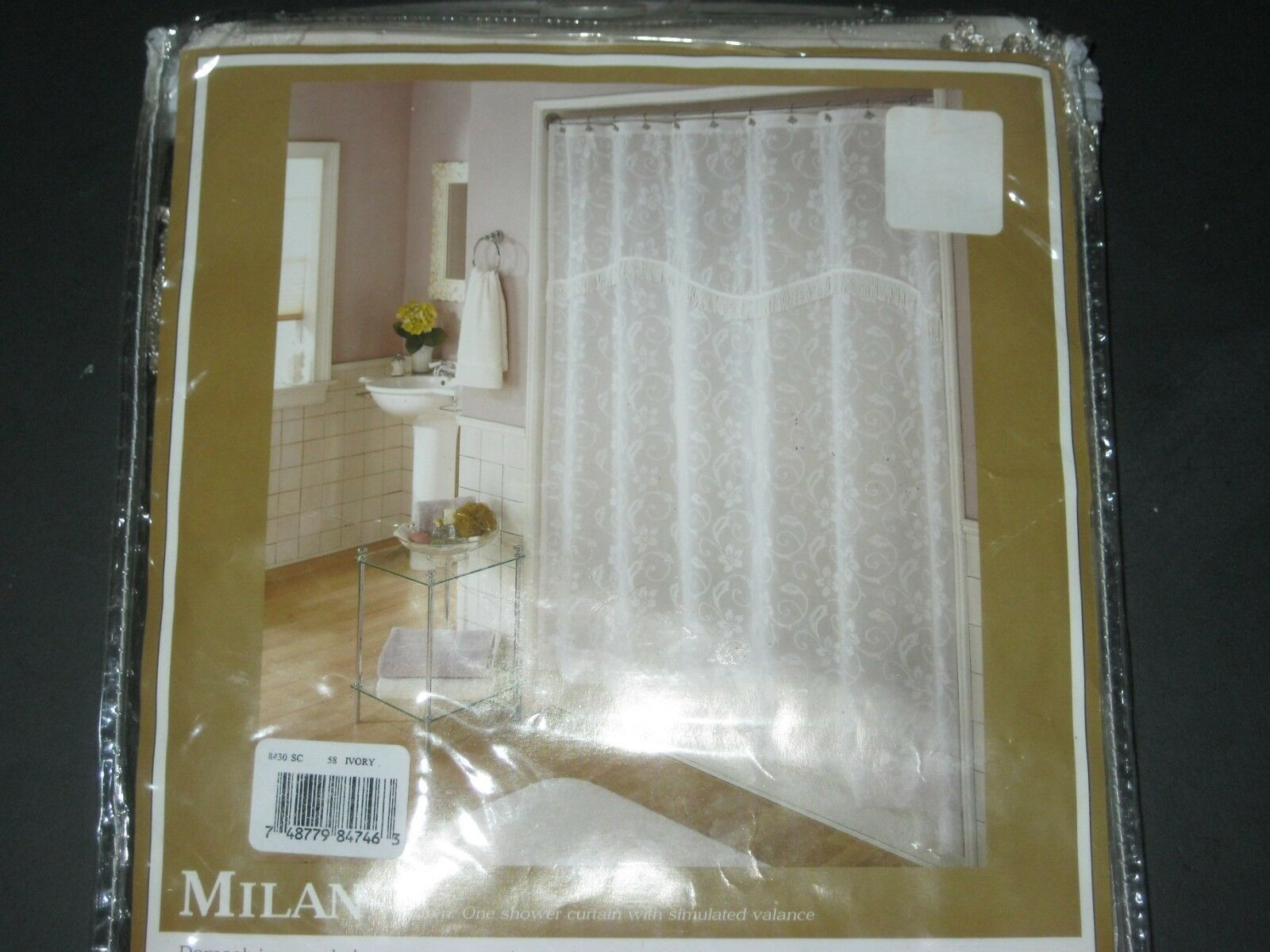 Shower Curtain Home Fashions By Lorraine Ivory Damask Simulated Valance New