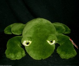 "14"" Ty Vintage 1991 Freddie Green Frog Stuffed Animal Plush Toy Makes Sound Tag - $23.38"