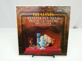 Brahms Symphony No. 3 Tragic Overture LP Record Fritz Reiner Chicago RCA... - $13.54