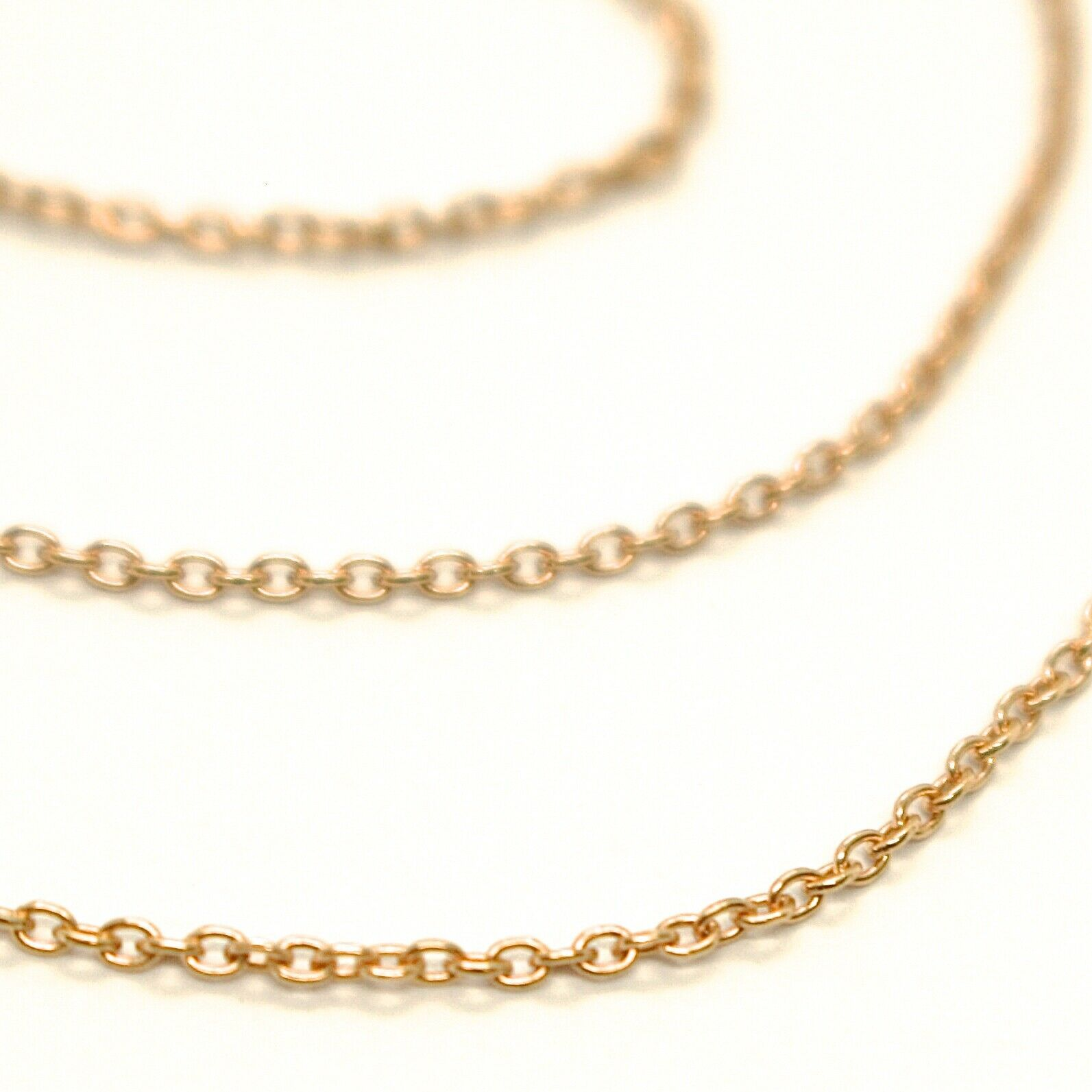 Mini Gold Chain Yellow 750 18K,40 45 or 50 cm,Jersey Rolo ' ,Rim Diameter 1 MM
