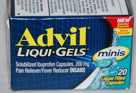 Advil Liqui-Gels Minis 20 Capsules 200 mg Ibuprofen Ex 2/20 NEW - $6.99