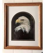 """Bald Eagle Head Photo Framed and Matted with Dome-Shape Mat, 16x13"""" Frame - $32.26"""