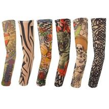 Hmxpls 6pcs Body Art Arm Stocking Slip Accessories Fake Temporary Tattoo Sleeves - $6.44