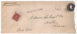 1940 Postage Due Cover from Mexia to ADAMS EXTRACT CO Austin, TX! - $5.99