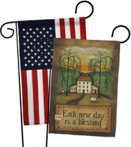 Each New Day - Impressions Decorative USA - Applique Garden Flags Pack -... - $30.97
