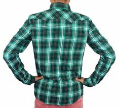 Levi's Men's Classic Western  Button Up Long Sleeve Plaid Green 3Lylw0062 image 3