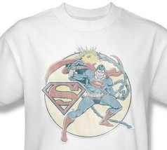 Superman Chains T-shirt retro DC comic superhero 100% cotton white tee DCO597 image 2