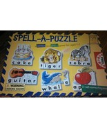 Spell A Puzzle Learn to Match and Spell ages 4 to 7 21 Self Correcting p... - $14.67