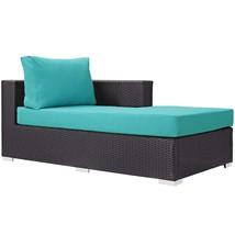Convene Outdoor Patio Fabric Right Arm Chaise EEI-1843-EXP-TRQ - $572.75
