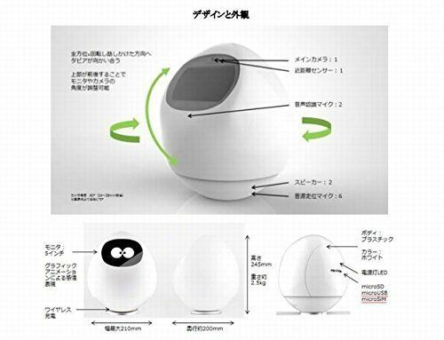 Tapia AI Robot Companion Android 5.1 Micro SIM SD USB Wi-Fi From Japan New